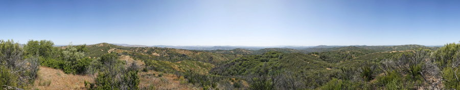 From a Knoll on Pacheco Ridge Road